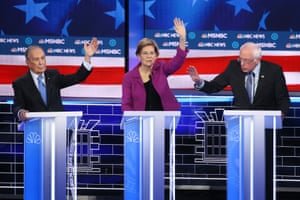 Bloomberg with Warren and Sanders.