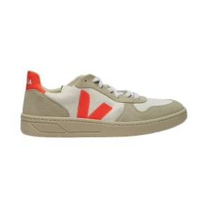 Recycled orange and beige, £105, by Veja, from matchesfashion.com