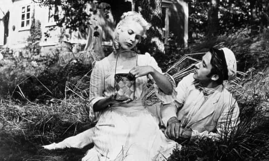 Bibi Andersson with Per Sjöstrand in Bergman's Wild Strawberries, 1957.