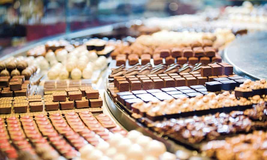 Chocolate at Läderach, Bern, Switzerland