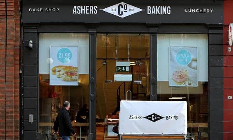 The shopfront of Asher's bakery on Royal Avenue in Belfast