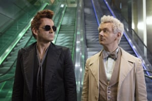 Tennant and Sheen in Good Omens.
