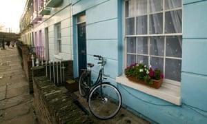 A bike left in the front garden in Camden, north London