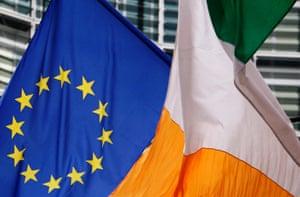 EU and Irish flags