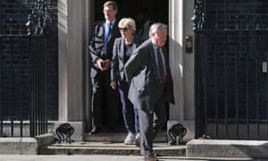 Dominic Grieve, Anna Soubry and Ken Clarke leave 10 Downing Street.
