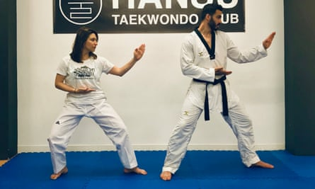 Dina Nayeri's return to the taekwondo dojang last year.