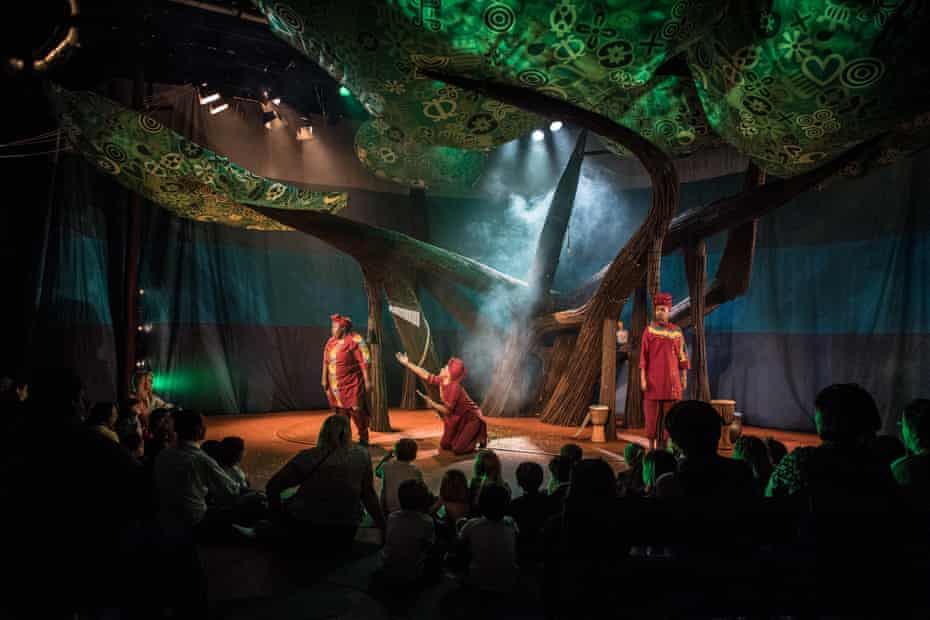 Anansi the Spider at the Unicorn theatre, London, in 2019.