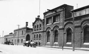 The original site of the West End Brewery on Hindley Street in 1920