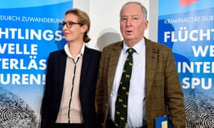 AfD leaders Alexander Gauland and Alice Weidel