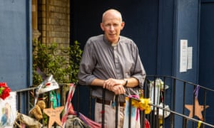 The Reverend Mike Long outside the Notting Hill Methodist church