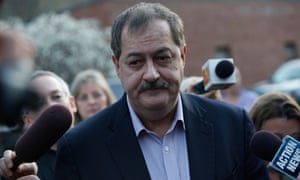 Don Blankenship spoke briefly and said he wanted to reassure the families of the fallen miners that they were 'great guys, great coal miners'
