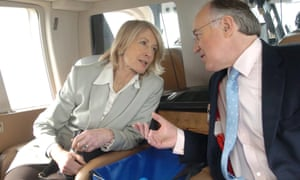 Michael Howard with his wife Sandra when he was Tory leader in 2005.