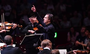 Teodor Currentzis conducts MusicAeterna during Prom 18 at the Royal Albert Hall, London.