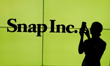 Snap Inc shares plunged after its first earnings report.