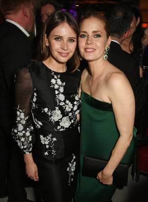 Felicity Jones and Amy Adams attend The Weinstein Company