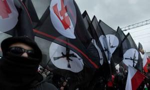 Far-right marchers