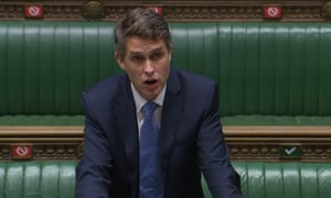 Gavin Williamson in the Commons today.