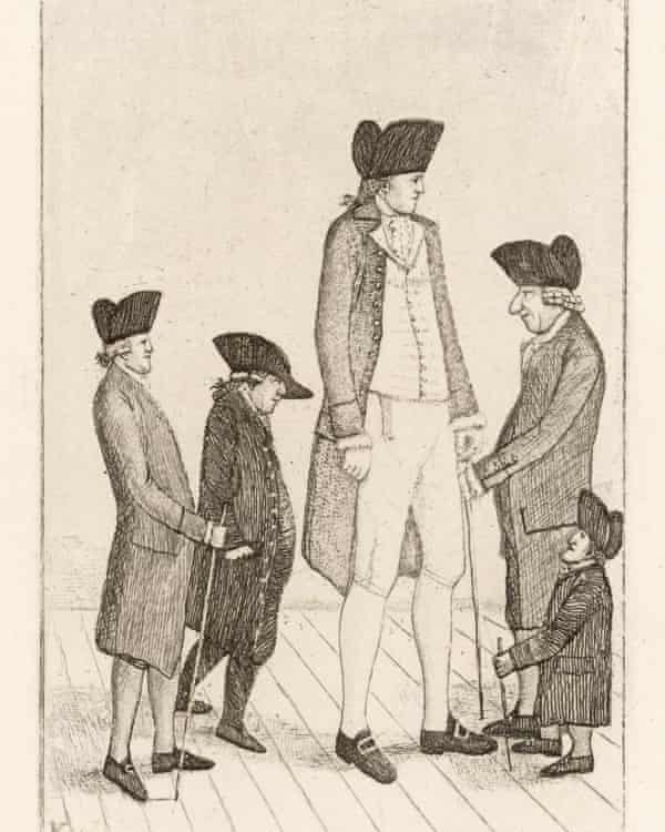 A depiction of Charles Byrne.