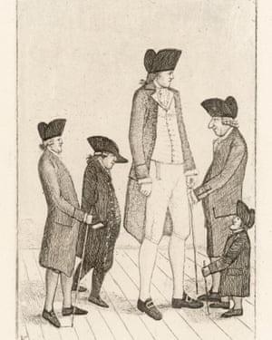 Charles Byrne (1761-83), depicted with various Edinburgh notables.