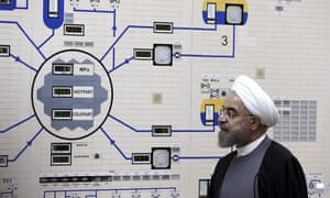 President Hassan Rouhani visiting the Bushehr nuclear power plant in 2015.