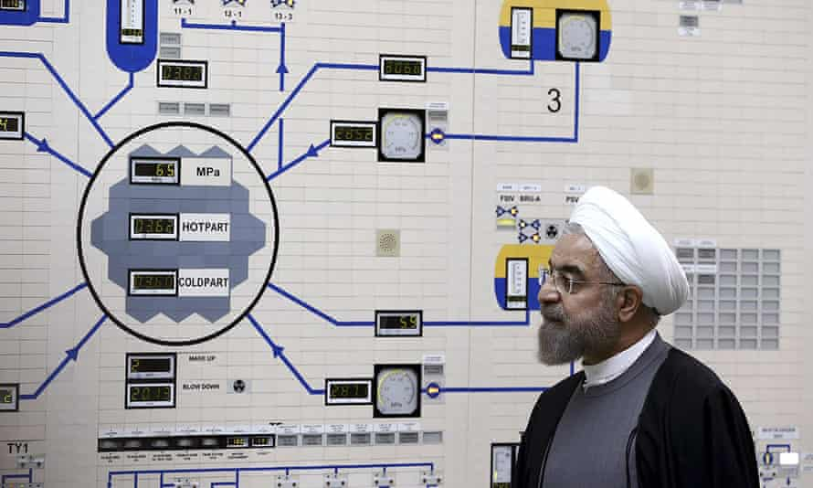 President Hassan Rouhani visiting the Bushehr nuclear power plant in 2015