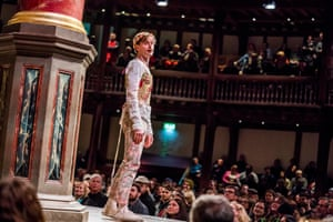Jack Laskey as Rosalind in As You Like It at Shakespeare's Globe in London.