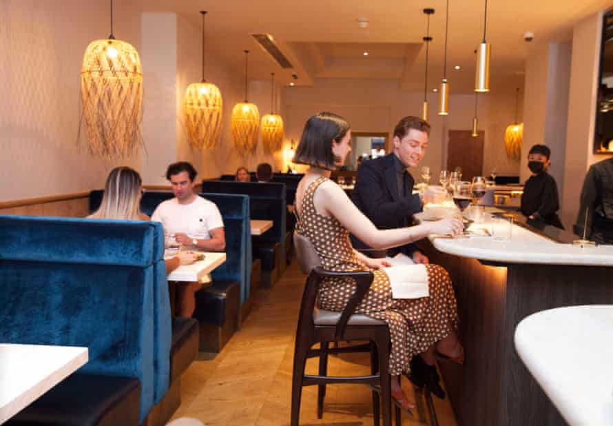 Bar de Pres, Mayfair, interior.