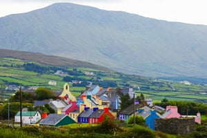 Eyeries, colorful irish village on the Beara peninsula