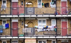 Housing estate in London