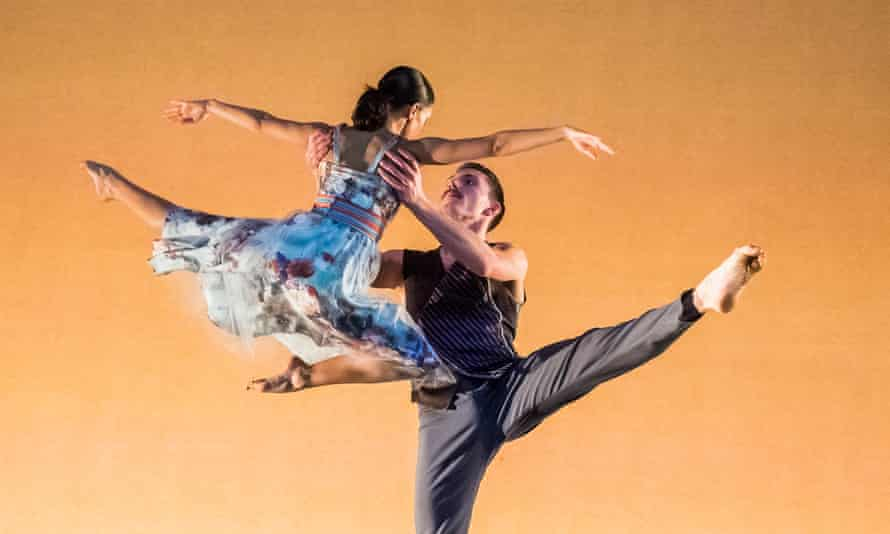 Ellen Yilma and Carmine De Amicis in Brahms Hungarian by Richard Alston Dance Company at Sadler's Wells, London, March 2019.