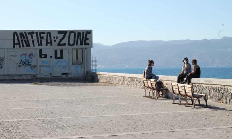 Graffiti in Heraklion harbour.