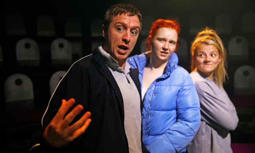 Jack Wilkinson, Katherine Pearce and Charlotte O'Leary in Island Town.
