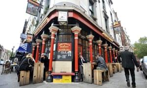 The Coach and Horses pub in London's Soho.