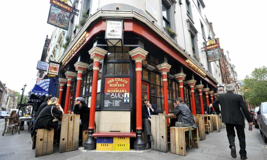 The Coach and Horses pub in London's Soho.