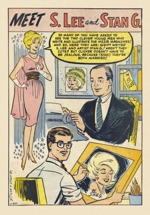 Long before Stan's movie appearances became the stuff of legend, the cameo king could often be spotted in the pages of his comics. Millie the Model Annual No. 1, 1962. Artwork by Stan Goldberg.