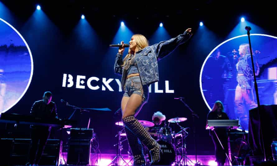 Becky Hill performing in Birmingham, 28 February 2020.