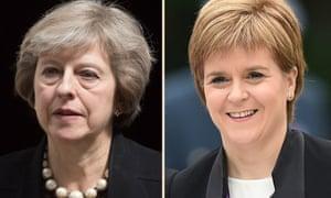 Theresa May will meet Nicola Sturgeon in Edinburgh.