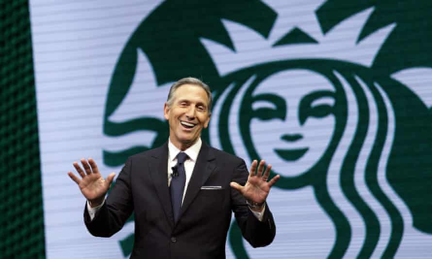 Howard Schultz, the former CEO of Starbucks is out hawking a book and telling interviewers he's 'strongly considering' a presidential run as an independent.