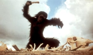 The 'Dawn of Man' sequence from the film used ideas about evolution that have now been discredited.
