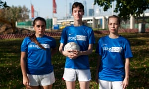'There is no women's football in Russia because everyone here thinks football is a male sport.'