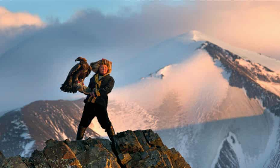 Aisholpan, the young Kazakh falconer whose story is told in documentary The Eagle Huntress