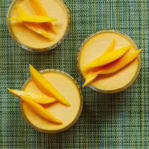 Tamal Ray's baked yoghurt with Indian mango.