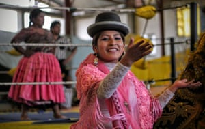 By Daniel Allcock Bolivian cholitas wrestling. Think WWF, but in traditional Bolivian dress.