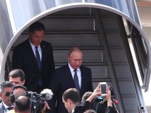 President Vladimir Putin arrives in Buenos Aires