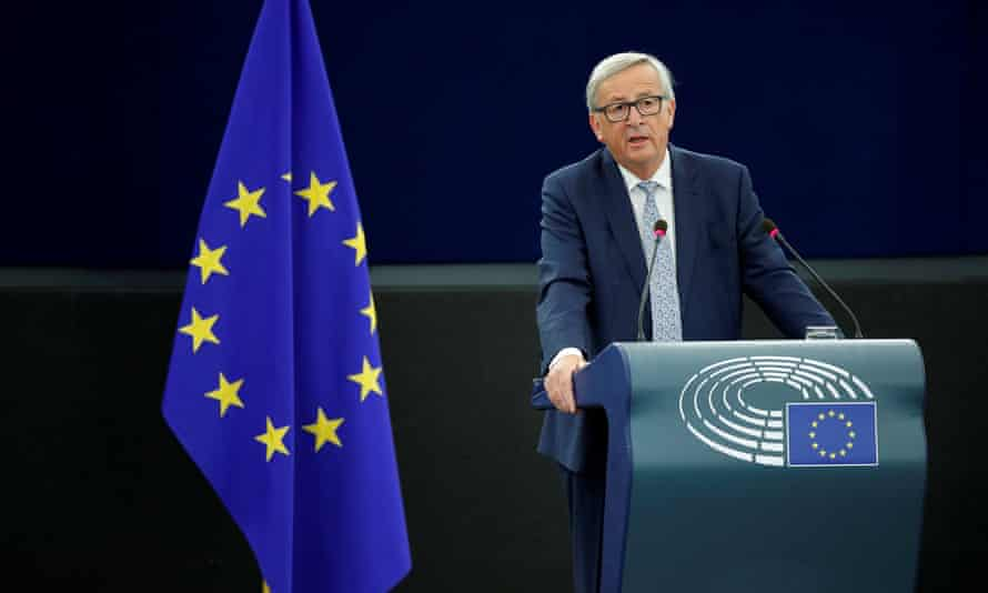 Jean Claude Juncker during his State of the Union speech.