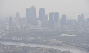London's air contains high levels of pollutants