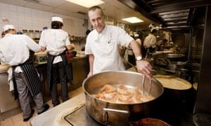 Michel Roux Jr at his restaurant Le Gavroche.
