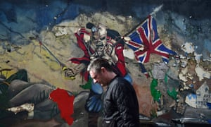 A mural in Derry, Northern Ireland.