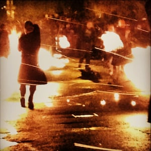 The yearly tradition of swinging burning balls of fire to bring in the New Year in Stonehaven, Aberdeenshire.<br><br><em>Prize draw winner receives a copy of Jane Bown's book</em>