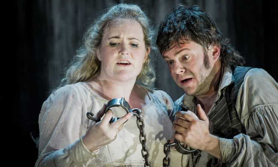Impassioned … Kirstin Sharpin in the title role and David Danholt as Florestan in Leonore.